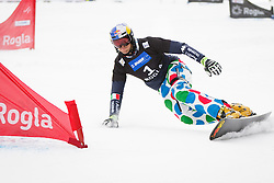 Roland Fischnaller (ITA) competes during Final Run of Men's Parallel Giant Slalom at FIS Snowboard World Cup Rogla 2016, on January 23, 2016 in Course Jasa, Rogla, Slovenia. Photo by Ziga Zupan / Sportida