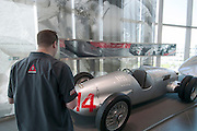 The Auto Union Hill Climber at the Audi Museum in Ingolstadt, Germany.