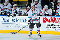 KELOWNA, CANADA - JANUARY 08: Tyson Baillie #24 of Kelowna Rockets skates against the Everett Silvertips on January 8, 2016 at Prospera Place in Kelowna, British Columbia, Canada.  (Photo by Marissa Baecker/Shoot the Breeze)  *** Local Caption *** Tyson Baillie;