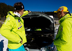 Miha Kuerner and Mitja Valencic during media day of Slovenian Alpine Ski team on October 17, 2011, in Rudno polje, Pokljuka, Slovenia. (Photo by Vid Ponikvar / Sportida)