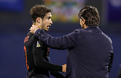Sime Vrsaljko and Zlatko Dalic, head coach of Croatia celebrate after they won against Spain during the UEFA Nations League football match between Croatia and Spain, on November 15, 2018, at the Maksimir Stadium in Zagreb, Croatia. Photo by Morgan Kristan / Sportida