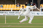 WICKET Mark Cosgrove is bowled by Tom Bailey during the Specsavers County Champ Div 2 match between Leicestershire County Cricket Club and Lancashire County Cricket Club at the Fischer County Ground, Grace Road, Leicester, United Kingdom on 23 September 2019.