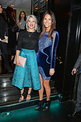 Left to right, PIPS TAYLOR and STEPHANIE PEERS at a party to celebrate the UK launch of French fashion label ba&sh at The Arts Club, Dover Street, London on 15th March 2016.