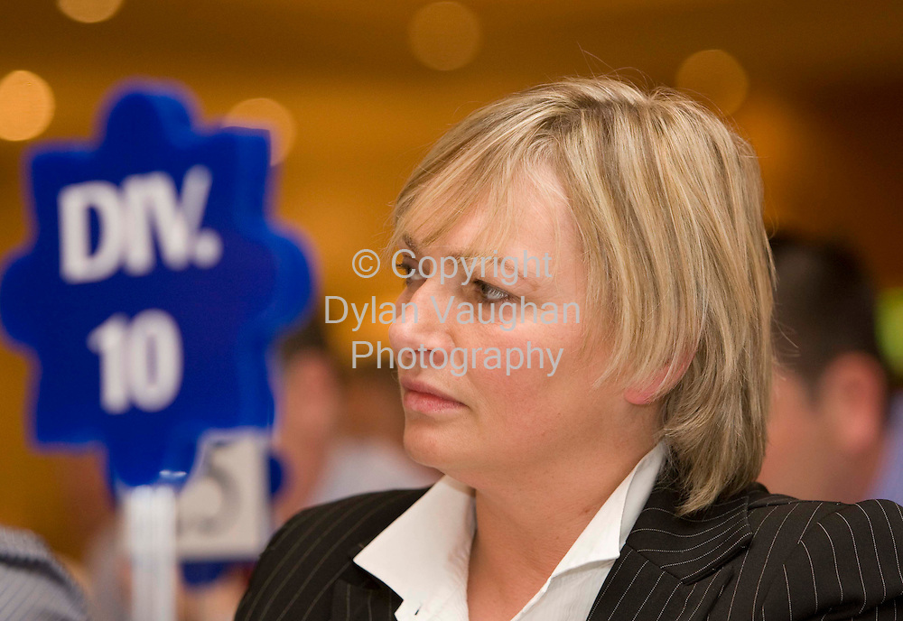 29/4/2008.Pictured at the Garda Representative Association 30th annual delegate conference at the Mount Wolseley Hotel in Tullow county Carlow was Bernadette O' Leary Cork City..Picture Dylan Vaughan