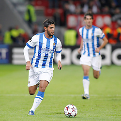 02.10.2013, BayArena, Leverkusen, GER, UEFA Champions League, Bayer 04 Leverkusen vs Real Sociedad San Sebastian, Gruppe A, im Bild Carlos Vela #11 (Real Sociedad de Futbol San Sebastian) in the direction of the opponent¬¥s goal. Freisteller, Cutout --- Bayer Leverkusen 04 - Real Sociedad de Futbol San Sebastian, Fussball, UEFA Champions League, 02.10.2013 --- // during UEFA Champions League group A match between Bayer 04 Leverkusen and Real Sociedad de Futbol San Sebastian at the BayArena in Leverkusen, Germany. EXPA Pictures © 2013, PhotoCredit: EXPA/ Eibner/ Grimme<br /> <br /> ***** ATTENTION - OUT OF GER *****