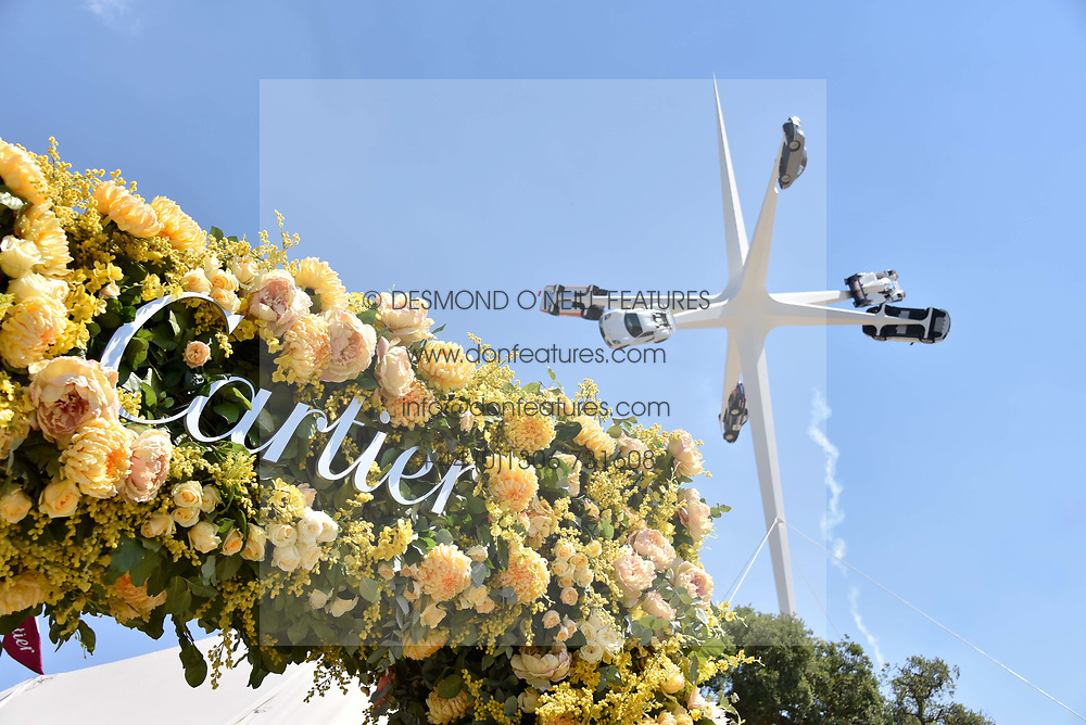 Atmosphere at the 'Cartier Style et Luxe' enclosure during the Goodwood Festival of Speed, Goodwood House, West Sussex, England. 15 July 2018.
