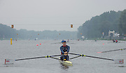 Amsterdam. NETHERLANDS. GBR W1X. Victoria THORNLEY. Tuesday morning training, wet and misty.   2014 FISA  World Rowing. Championships.  De Bosbaan Rowing Course . 09:33:06  Tuesday  26/08/2014  [Mandatory Credit; Peter Spurrier/Intersport-images]