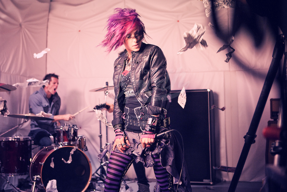 Images of rock-band, Icon for Hire, during their music video shoot with director, Van Blumreich, Thursday, June 16, 2011 at Tex-Cam in Houston, Texas. The band recently signed to Tooth & Nail records. (Todd Spoth)