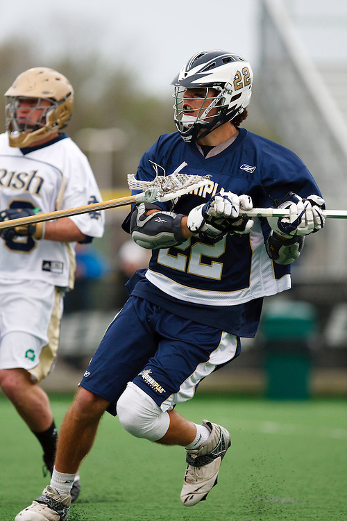 May 1, 2009:    #22 Kelly, Kevin of Quinnipiac in action during the NCAA Lacrosse game between Notre Dame and Quinnipiac at GWLL Tournament in Birmingham, Michigan. (Credit Image: Rick Osentoski/Cal Sport Media)
