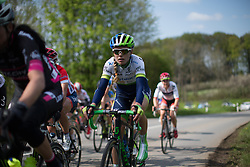 Tayler Wiles (USA) of Orica-AIS Cycling Team rides mid-pack during the second, 110.1km road race stage of Elsy Jacobs - a stage race in Luxembourg in Garnich on May 1, 2016.