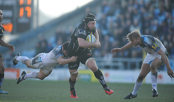 Thomas Waldrom of Exeter Chiefs powers through.  - Mandatory byline: Alex Davidson/JMP - 12/03/2016 - RUGBY - Sandy Park -Exeter Chiefs,England - Exeter Chiefs v Newcastle Falcons - Aviva Premiership