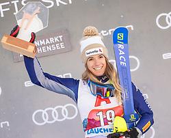 12.01.2020, Keelberloch Rennstrecke, Altenmark, AUT, FIS Weltcup Ski Alpin, Alpine Kombination, Damen, Siegerehrung, im Bild Marta Bassino (ITA, 3. Platz) // third placed Marta Bassino of Italy during the winner ceremony of women's Alpine combined for the FIS ski alpine world cup at the Keelberloch Rennstrecke in Altenmark, Austria on 2020/01/12. EXPA Pictures © 2020, PhotoCredit: EXPA/ Johann Groder