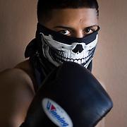 Portrait of Bantam weight boxing champion Abner Mares.