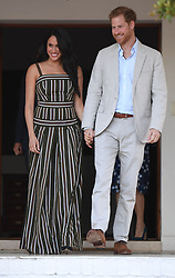 The Duke and Duchess of Sussex at a reception at the High Commissioner's Residence in Cape Town, on day two of their tour of Africa.