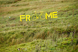 A message of support for Chris Froome of Team Sky on Buttertubs Pass along the Stage 1 Route in the Yorkshire Dales - Photo mandatory by-line: Rogan Thomson/JMP - 07966 386802 - 04/07/2014 - SPORT - CYCLING - Yorkshire - Le Tour de France Grand Depart Previews.