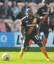 JAMAL CAMPBELL RYCE BARNET, Barnet v Luton Town EFL Sky Bet League 2 The Hive, Saturday 8th April 2017, Score 0-1<br /> Photo:Mike Capps