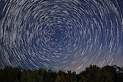 Star trails over the Texas Hill Country