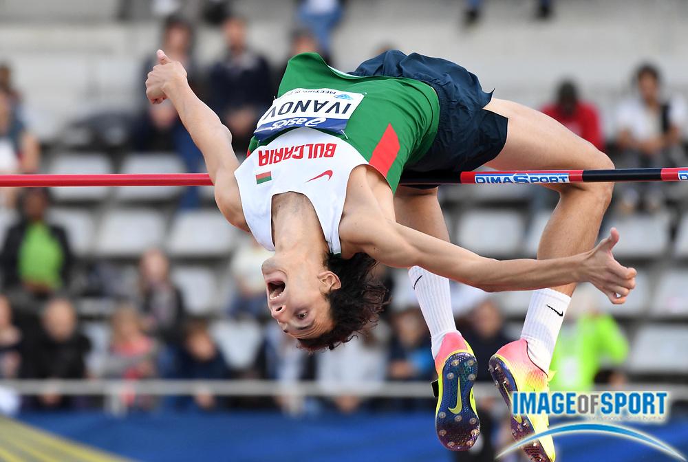 Jul 1, 2017; Paris, France; Tikhomir Ivanov (BLR) places fourth in the high jump at 7-5 3/4 (2.28m) during the Meeting de Paris in an IAAF Diamond League meet at Stade Charlety.