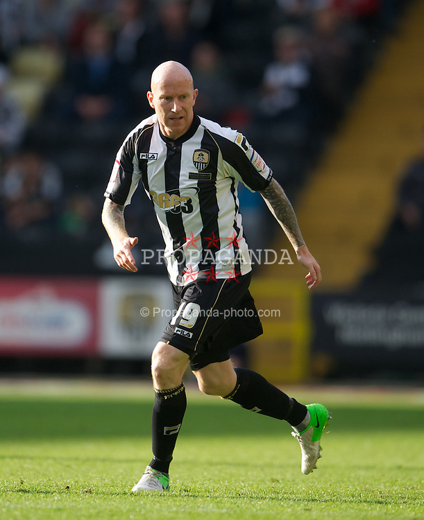 NOTTINGHAM, ENGLAND - Saturday, October 6, 2012: Notts County's Lee Hughes in action against Tranmere Rovers during the Football League One match at Meadow Lane. (Pic by David Rawcliffe/Propaganda)