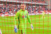 Sheffield United goalkeeper Dean Henderson (1) in action during the Pre-Season Friendly match between Barnsley and Sheffield United at Oakwell, Barnsley, England on 27 July 2019.