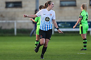 Marine Academy scores a goal 1-1 during the South West Womens Premier League match between Forest Greeen Rovers Ladies and Marine Academy Plymouth LFC at Slimbridge FC, United Kingdom on 5 November 2017. Photo by Shane Healey.