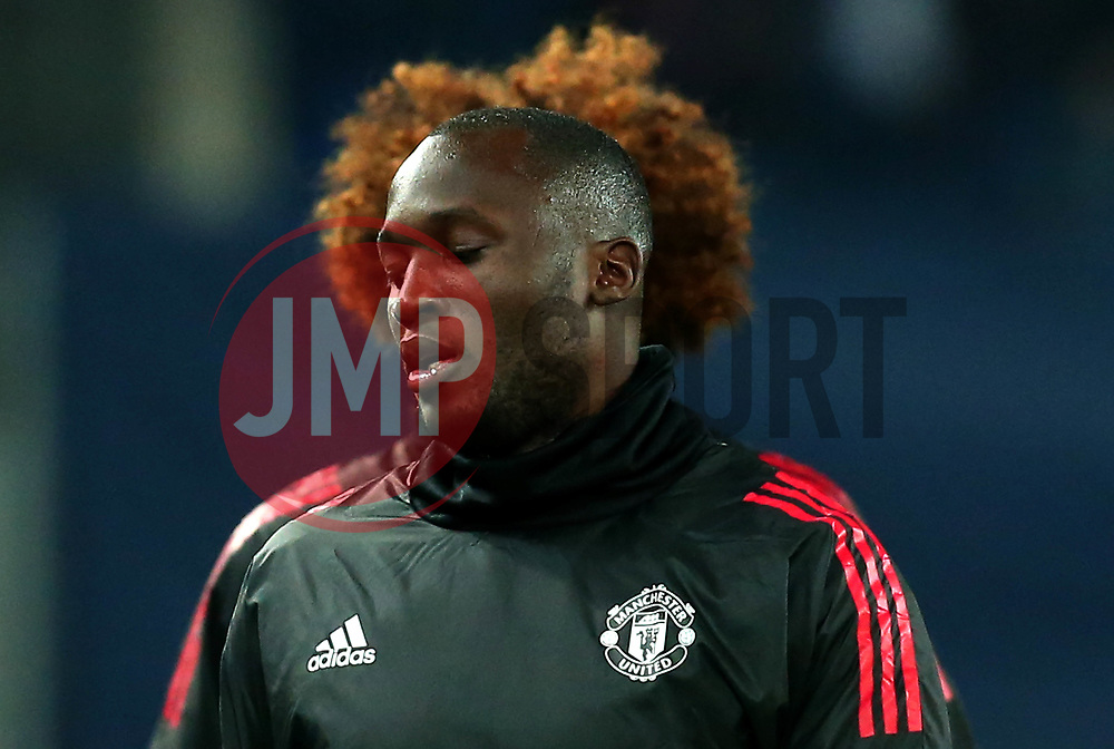 Romelu Lukaku of Manchester United warms up with Marouane Fellaini of Manchester United stood behind - Mandatory by-line: Robbie Stephenson/JMP - 22/11/2017 - FOOTBALL - St Jakob-Park - Basel,  - FC Basel v Manchester United - UEFA Champions League Group A