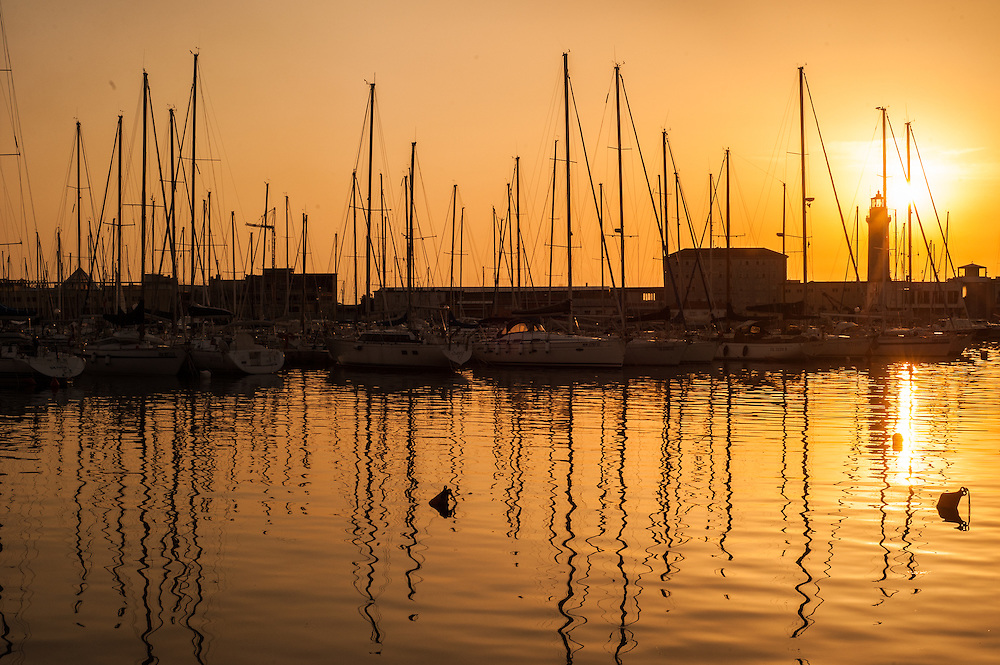 The new commercial harbour in Trieste, Italy