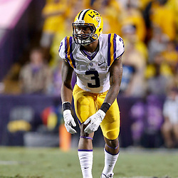 Sep 21, 2013; Baton Rouge, LA, USA; LSU Tigers wide receiver Odell Beckham (3) against the Auburn Tigers during the second half of a game at Tiger Stadium. LSU defeated Auburn 35-21. Mandatory Credit: Derick E. Hingle-USA TODAY Sports