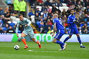 Ross Barkley (8) of Chelsea on the attack during the Premier League match between Cardiff City and Chelsea at the Cardiff City Stadium, Cardiff, Wales on 31 March 2019.