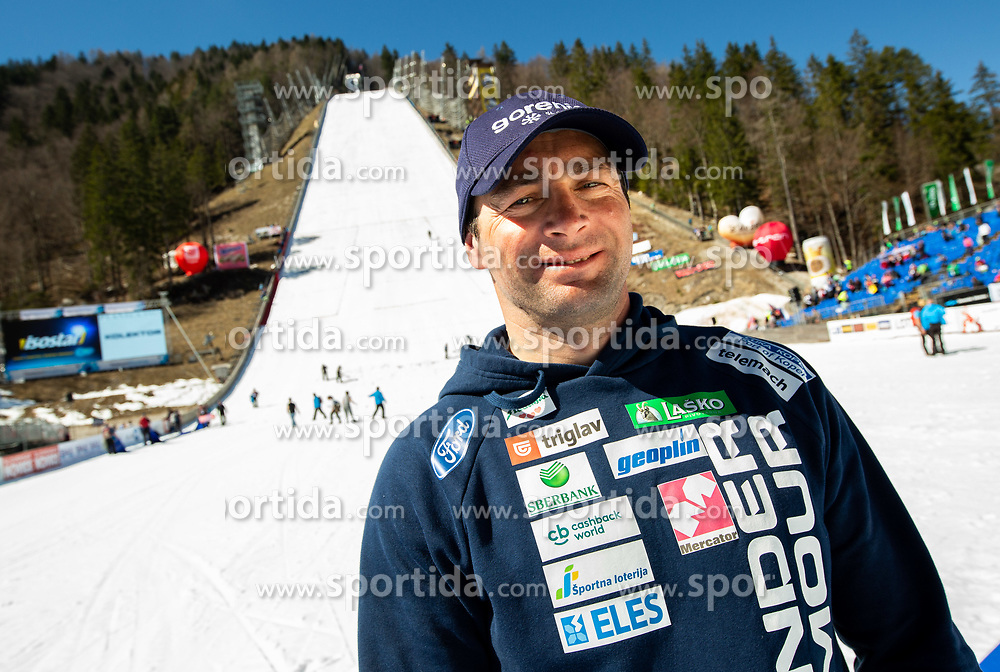 Gorazd Bertoncelj, coach of Slovenia posing during the Ski Flying Hill Individual Competition at Day 4 of FIS Ski Jumping World Cup Final 2019, on March 24, 2019 in Planica, Slovenia. Photo by Vid Ponikvar / Sportida