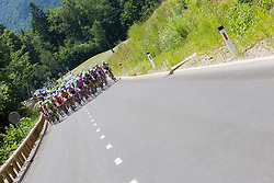 Peloton during Stage 2 from Kocevje to Visnja Gora (168,5 km) of cycling race 20th Tour de Slovenie 2013,  on June 14, 2013 in Slovenia. (Photo By Vid Ponikvar / Sportida)