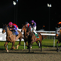 Evergreen Forest and George Baker winning the 7.00 race