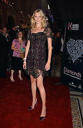 JODIE KIDD at the opening party for Diamonds - a new exhibition at The Natural History Museum, London in association with De Beers held on 6th July 2005.<br /><br />NON EXCLUSIVE - WORLD RIGHTS