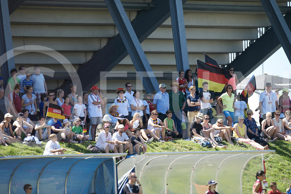 MONCHENGLADBACH - Junior World Cup<br /> Placement 9-16: Germany - Russia<br /> photo: german fans.<br /> COPYRIGHT  FFU PRESS AGENCY FRANK UIJLENBROEK