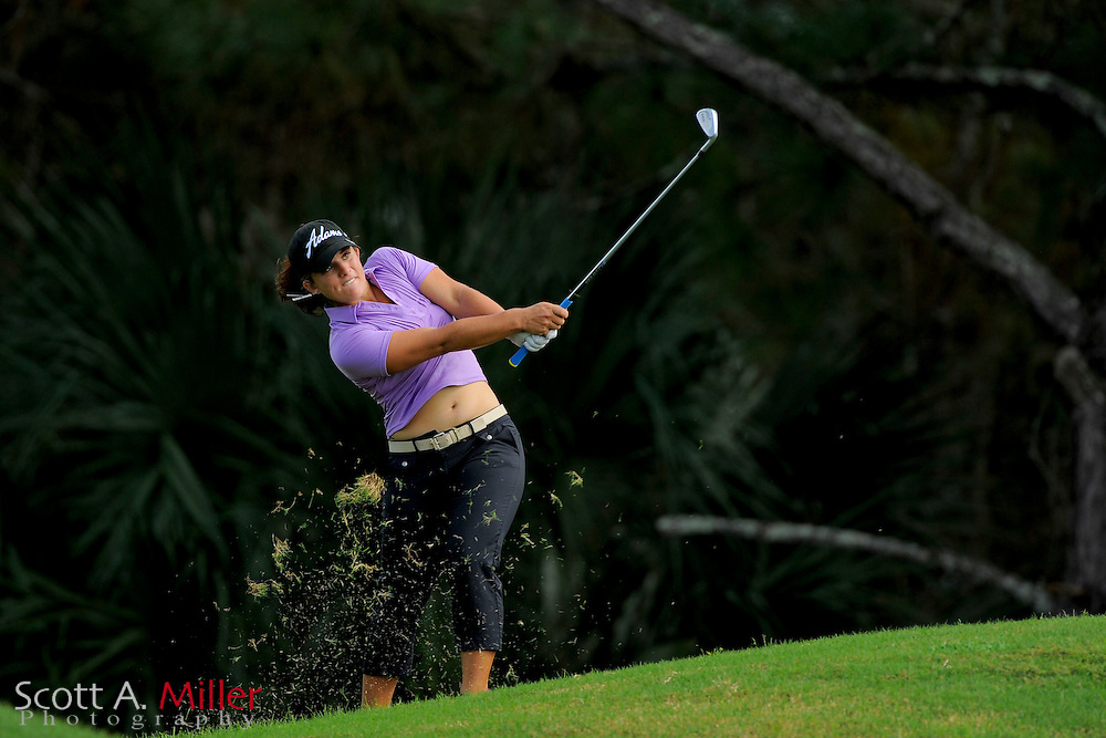 Anya Alvarez during the rain-delayed third round of the Symetra Tour Championship at LPGA International on Sept. 29, 2013 in Daytona Beach, Florida. <br /> <br /> <br /> &copy;2013 Scott A. Miller