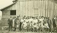 Congregation near Maplesville after first regular service, Dec. 4, 1927.