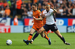 Diogo Jota of Wolverhampton Wanderers and Darren Pratley of Bolton Wanderers - Mandatory by-line: Matt McNulty/JMP - 21/04/2018 - FOOTBALL - Macron Stadium - Bolton, England - Bolton Wanderers v Wolverhampton Wanderers - Sky Bet Championship