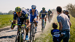 STYBAR Zdenek in the peloton during the 115th Paris-Roubaix (1.UWT) from Compiègne to Roubaix (257 km) at cobblestones sector 17 from Hornaing to Wandignies, France, 9 April 2017. Photo by Pim Nijland / PelotonPhotos.com | All photos usage must carry mandatory copyright credit (Peloton Photos | Pim Nijland)