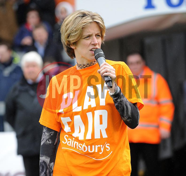 Bristol MP Charlotte Leslie - Photo mandatory by-line: Neil Brookman/JMP - Mobile: 07966 386802 - 03/04/2015 - SPORT - Football - Bristol - Memorial Stadium - Bristol Rovers v Chester - Vanarama Football Conference