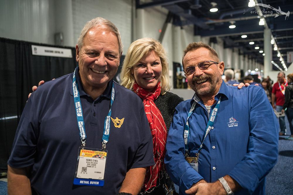 Haines O'Neil, Jennifer O'Neil, Edi Frommenwiler of Pindito (DEMA 2016,Las Vegas)