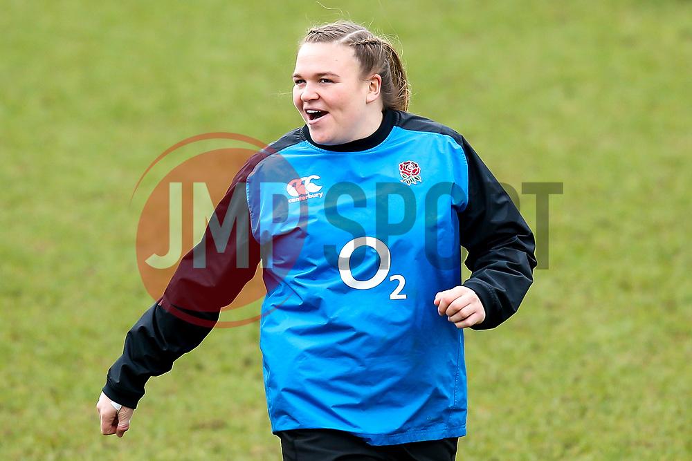 Sarah Bern of England Women - Mandatory by-line: Robbie Stephenson/JMP - 10/02/2019 - RUGBY - Castle Park - Doncaster, England - England Women v France Women - Women's Six Nations