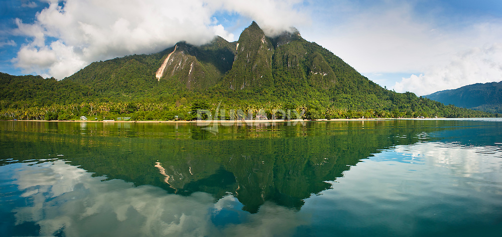 Mount Emensiri and reflection, Lobo Village, Triton Bay, Papua