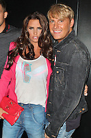 LONDON - September 04: Katie Price & Gary Cockerill at the Jeans for Genes - Launch Party (Photo by Brett D. Cove)