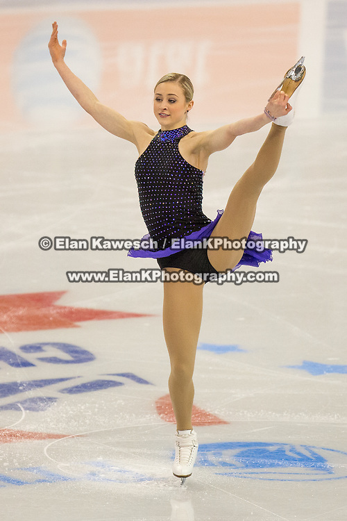 Ashley Cain competes in the championship ladies short program at the 2014 US Figure Skating Championships at TD Garden in Boston, MA, on January 9, 2014.