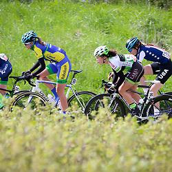 23-04-2016: Wielrennen: Topcompetitie vrouwen: Borsele  <br />s-Heerenhoek (NED) wielrennen <br />De omloop van Borsele een koers met kenmerkende smalle passages over dijken kent met wind meestal veel strijd. Jannieke Kalsbeek, Lotte van Hoek