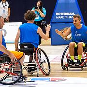 NLD/Rotterdam/20190706 - BN'ers spelen rolstoelbasketbal, team oranje met Manuel Venderbos