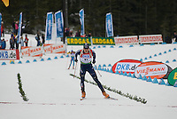 Jay Hakkinen (USA) competes in the World Cup Biathlon men's Sprint Competition on March 13, 2009