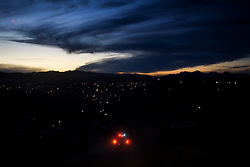 Police patrol the poor, dangerous neighborhoods in the hills of Nogales, Mexico.