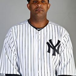 Feb 20, 2013; Tampa, FL, USA; New York Yankees starting pitcher CC Sabathia (52) during photo day at Steinbrenner Field. Mandatory Credit: Derick E. Hingle-USA TODAY Sports