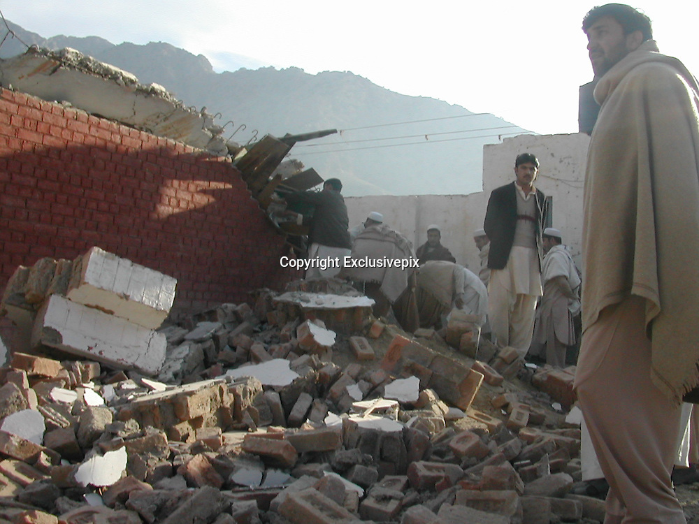 Bomb Blast Near Afghan Border Destroys School<br /> Another powerful blast in Government School  in Landikotal near the PAK Afghan Torkham border in Pakistan. The school having 24 class rooms were completely destroyed. Local residents survey the school allegedly bombed by the militants near the border. According to the security officials dozens of educational Buildings including girls schools have been destroyed by the militants in recent months in tribal khyber region near the Afghan border with pakistan. According to the local tribal elders thousands of tribal students have been deprived of getting a full education and it is fear that the youth might be convinced  to join the Militancy.<br /> &copy;Yasir Shinwari/Exclusivepix